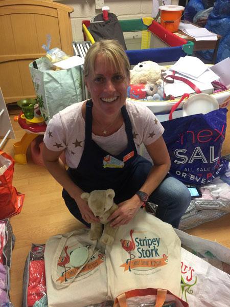 Volunteering at Stripey Stork 2