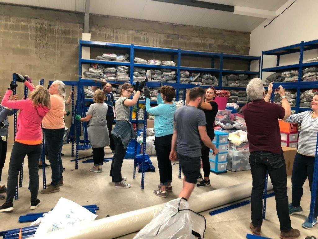 Volunteers move 9